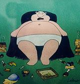 Junk Food, TV, ακινησία παχαίνουν τον πλανήτη